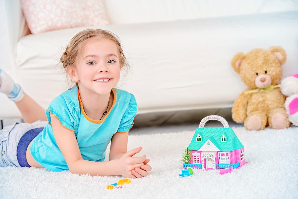 Girl-on-carpet
